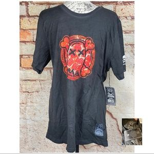 IRON FIST NWT Black Faded Ghost Town Graphic Tee